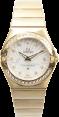 OMEGA 123.55.27.60.55.003 CONSTELLATION QUARTZ 27mm YELLOW GOLD BRAND NEW