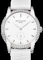 Patek Philippe 7122-200G-001 Ladies Calatrava 33mm White Hobnail Index Diamond Bezel White Gold Leather BRAND NEW