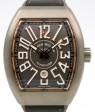 Franck Muller Vanguard Titanium Rose Gold Grey Dial Black Leather Strap V45 SC TT BR 5N - PRE-OWNED
