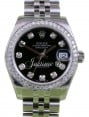 Rolex Datejust 31 Lady Midsize Stainless Steel Black Diamond Dial & Bezel Jubilee Bracelet 178240 - BRAND NEW