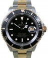 Rolex Submariner 16613 Men's 40mm Black Date 18k Yellow Gold Stainless Steel - PRE-OWNED