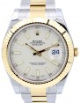 Rolex Datejust II 116333 41mm White Index 18k Yellow Gold Stainless Steel Oyster - BRAND NEW