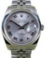 Rolex Datejust 116200 Roman Silver 36mm Stainless Steel Jubilee