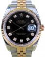 Rolex Datejust 116233 Diamond Black 18k Yellow Gold Stainless Steel Jubilee