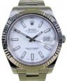 Rolex Datejust II 116334 Index White 41mm 18k White Gold Stainless Steel