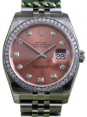 Rolex Datejust 116200 Diamond Pink Dial Bezel Stainless Steel Jubilee BRAND NEW