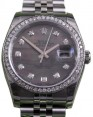 Rolex Datejust 116200 Diamond Dark Mother of Pearl Dial Bezel Jubilee BRAND NEW