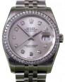 Rolex Datejust 116200 Diamond Silver Dial Bezel Stainless Steel Jubilee BRAND NEW