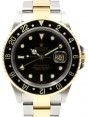 Product Image: Rolex GMT-Master II 16713 Men's 40mm Black Yellow Gold Stainless Steel Oyster