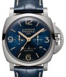 Panerai PAM 670 Luminor Equation of Time Titanium Blue Arabic / Index Dial & Smooth Leather Bracelet 47mm - BRAND NEW