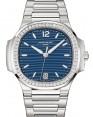 Product Image: Patek Philippe Nautilus Ladies Blue Opaline Index Diamond Bezel Stainless Steel 35.2mm 7118/1200A-001- BRAND NEW