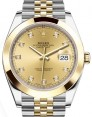 Rolex Datejust 41 Yellow Gold/Steel Champagne Diamond Dial Smooth Bezel Jubilee Bracelet 126303 - BRAND NEW