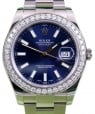 Rolex Datejust II 116300 Index Blue Diamond Bezel 41mm Stainless Steel BRAND NEW
