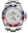 Product Image: Rolex GMT-Master II White Gold Meteorite Luminous Dial & Red/Blue Ceramic Bezel Oyster Bracelet 126719BLRO - BRAND NEW