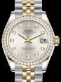 Rolex Lady-Datejust 31 Yellow Gold/Steel Silver Diamond Dial & Diamond Bezel Jubilee Bracelet 278383RBR - BRAND NEW