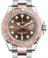 Rolex Yacht-Master 40 Everose Rose Gold/Steel Chocolate Brown Dial Gold Bezel Oyster Bracelet 116621 - BRAND NEW