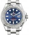 Rolex Yacht-Master 40 Stainless Steel Blue Dial Platinum Bezel Oyster Bracelet 116622 - BRAND NEW