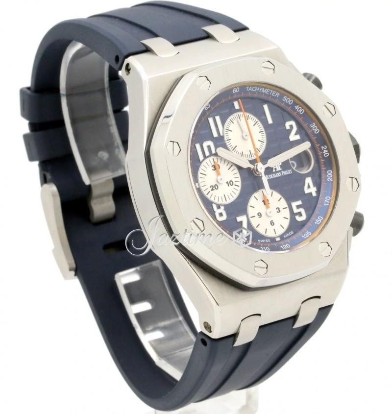 Audemars piguet 26470st oo royal oak offshore navy chronograph 42mm blue steel rubber for Royal oak offshore navy