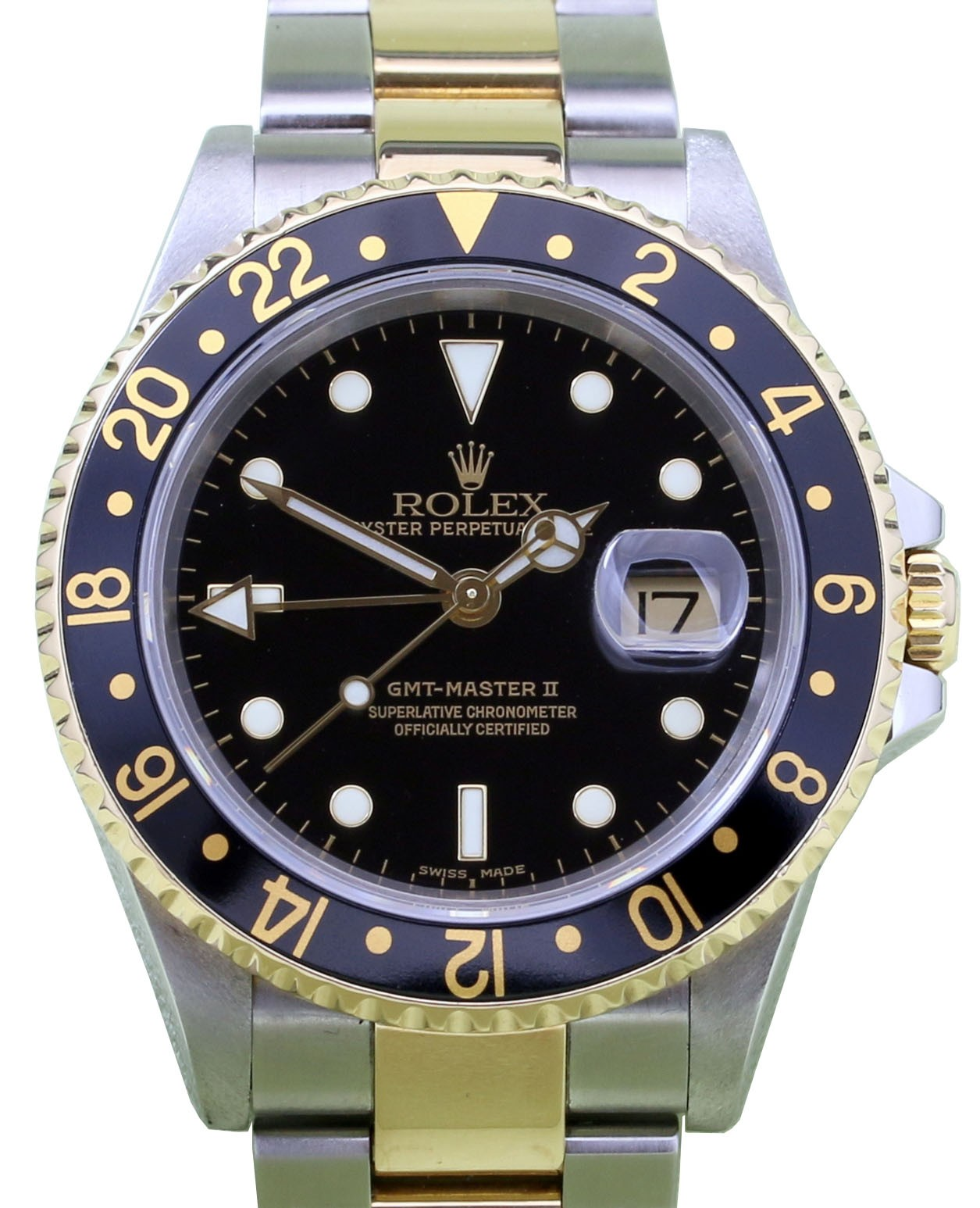 rolex gmt master ii 16713 40mm 18k yellow gold stainless steel. Black Bedroom Furniture Sets. Home Design Ideas