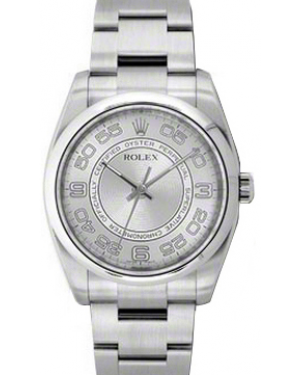 Rolex Oyster Perpetual 36 Stainless Steel Silver Concentric Circle Arabic Dial & Smooth Bezel Oyster Bracelet 116000 - BRAND NEW