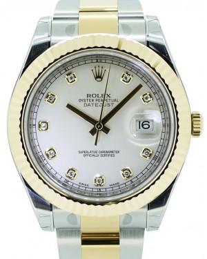 Rolex Datejust II 116333 Men's 41mm Diamond Ivory 18k Yellow Gold BRAND NEW