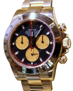 Rolex Daytona 116528 Yellow Gold Black BRAND NEW