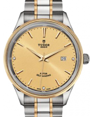 Tudor Style 12703 Champagne Diamond & Index Yellow Gold & Stainless Steel 41mm BRAND NEW