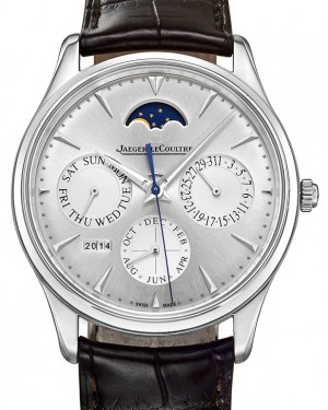 Jaeger-LeCoultre Calibre 868/1 Master Ultra Thin Perpetual 130842J Silver Index Stainless Steel Leather 39mm Automatic BRAND NEW