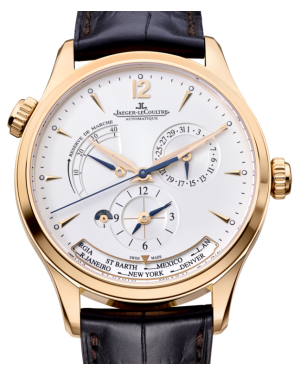Jaeger-LeCoultre Calibre 939A/1 Master Geographic 1422521 Silver Index Rose Gold Leather 39mm Automatic BRAND NEW