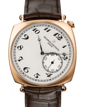 Vacheron Constantin Historiques American 1921 Rose Gold Silver Index Dial & Leather Strap 82035/000R-9359 - BRAND NEW