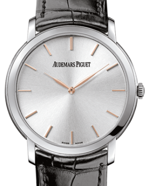 Audemars Piguet 15180BC.OO.A002CR.01 Jules Audemars Extra-Thin 41mm Silver Index White Gold Leather BRAND NEW