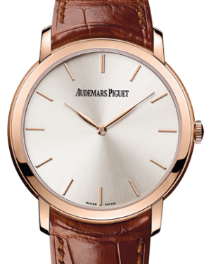 Audemars Piguet 15180OR.OO.A088CR.01 Jules Audemars Extra-Thin 41mm Silver Index Rose Gold Leather BRAND NEW