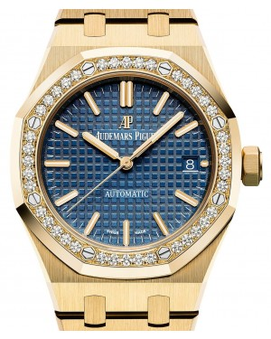 Audemars Piguet Royal Oak Selfwinding 15451BA.ZZ.1256BA.01 Blue Index Yellow Gold 37mm - BRAND NEW