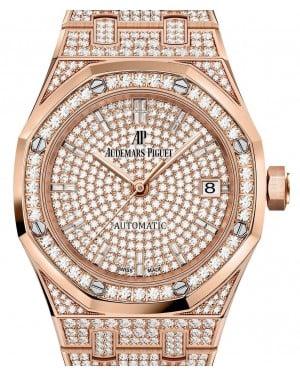 Audemars Piguet Royal Oak Selfwinding 15452OR.ZZ.1258OR.02 Diamond Paved Diamond Set Rose Gold 37mm - BRAND NEW