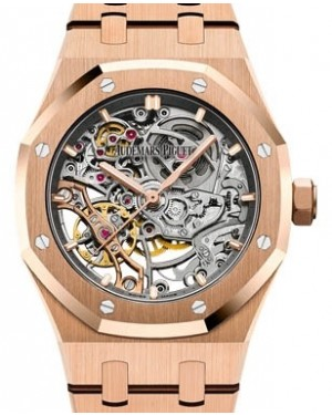 Audemars Piguet Royal Oak Double Balance Wheel Openworked 15467OR.OO.1256OR.01 Skeleton Index Pink Gold 37mm - BRAND NEW