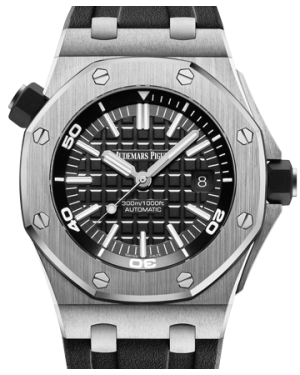 Audemars Piguet Royal Oak Offshore Diver Stainless Steel 42mm Black Dial Rubber Strap 15710ST.OO.A002CA.01 - BRAND NEW