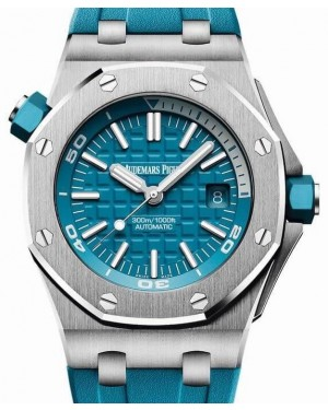 Audemars Piguet Royal Oak Offshore Diver 15710ST.OO.A032CA.01 Turquoise Index Stainless Steel Rubber 42mm BRAND NEW