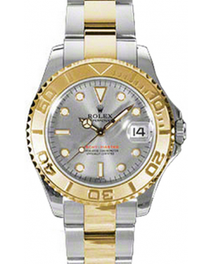 Rolex Yacht-Master 35 168623-PLT Platinum Dial Yellow Gold Bezel Yellow Gold Stainless Steel Oyster - BRAND NEW