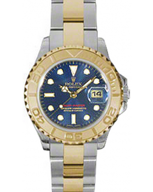 Rolex Yacht-Master 29 169623-BLU Blue White Dial Yellow Gold Bezel Yellow Gold Stainless Steel Oyster - BRAND NEW