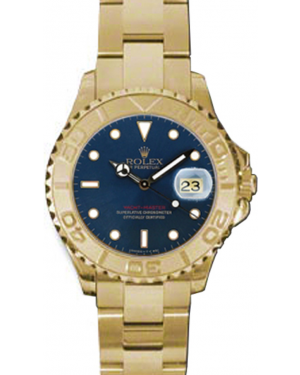 Rolex Yacht-Master 29 169628-BLU Blue White Dial Yellow Gold Oyster - BRAND NEW