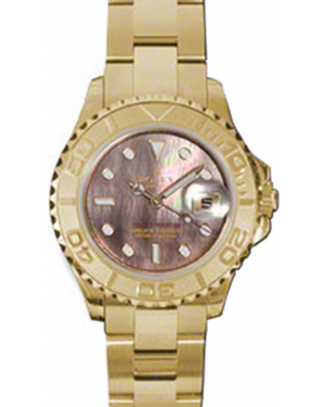 Rolex Yacht-Master 29 169628-BMOP Dark Mother of Pearl White Dial Yellow Gold Oyster - BRAND NEW