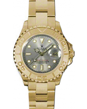 Rolex Yacht-Master 29 169628-GRY Grey White Dial Yellow Gold Oyster - BRAND NEW