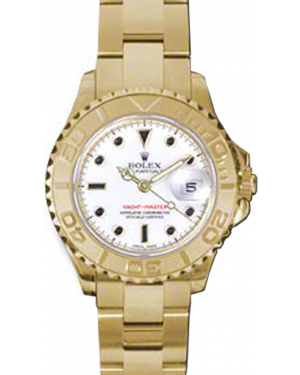 Rolex Yacht-Master 29 169628-WHT White Black Dial Yellow Gold Oyster - BRAND NEW