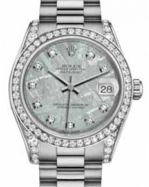 Rolex Datejust 31 178159 Meteorite Diamond Set White Gold President 31mm Automatic - BRAND NEW