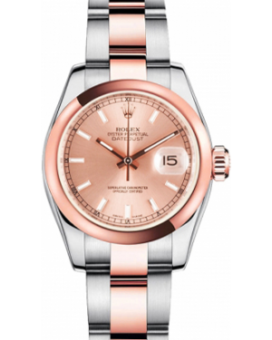 Rolex Lady-Datejust 26 179161-PNKSDO Pink Index Rose Gold Stainless Steel Oyster - BRAND NEW