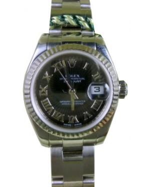 Rolex Black Datejust Ladies Radiating 179174 Black Roman 26mm