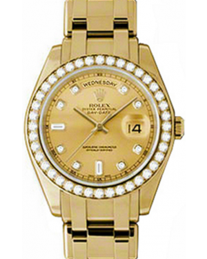 Rolex Day-Date Special Edition 18948-CHPDDO 39mm Champagne Diamond Yellow Gold Oyster - BRAND NEW
