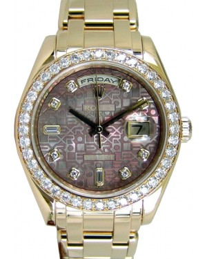 Rolex Day-Date Special Edition 18948-DMOPDDO 39mm Dark Mother of Pearl Diamond Jubilee Dial Yellow Gold Oyster - BRAND NEW