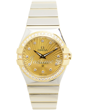 OMEGA 123.25.27.60.58.002 CONSTELLATION QUARTZ 27mm STEEL AND YELLOW GOLD BRAND NEW