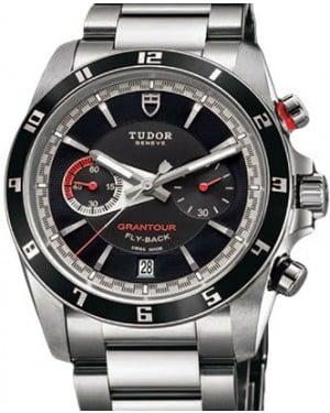 Tudor Grantour Chronograph Fly-Back 20550N-95730 Black Index Stainless Steel 42mm BRAND NEW
